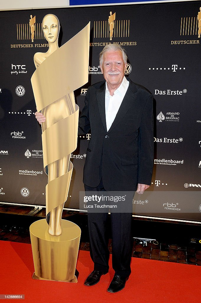 <a gi-track='captionPersonalityLinkClicked' href=/galleries/search?phrase=Michael+Ballhaus&family=editorial&specificpeople=236061 ng-click='$event.stopPropagation()'>Michael Ballhaus</a> attends nominees reception for the 'Deutscher Filmpreis' at the PanAm Lounge on April 14, 2012 in Berlin, Germany.
