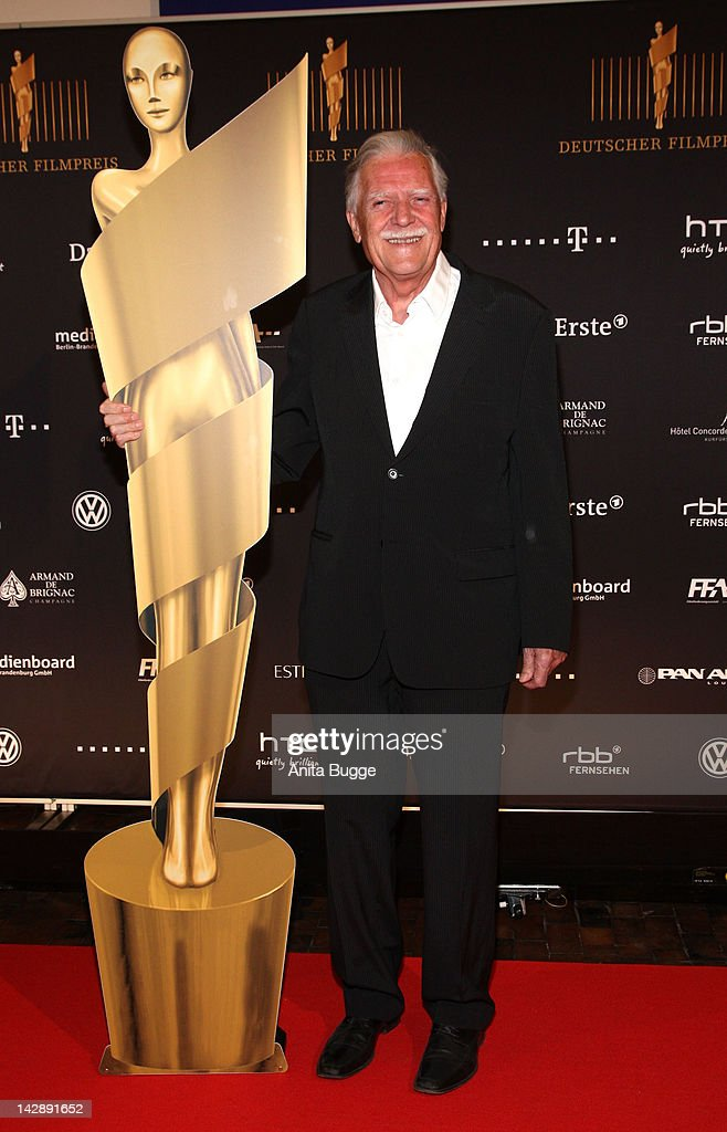 <a gi-track='captionPersonalityLinkClicked' href=/galleries/search?phrase=Michael+Ballhaus&family=editorial&specificpeople=236061 ng-click='$event.stopPropagation()'>Michael Ballhaus</a> attends the nominees reception of the 'Deutscher Filmpreis' award on April 14, 2012 in Berlin, Germany.