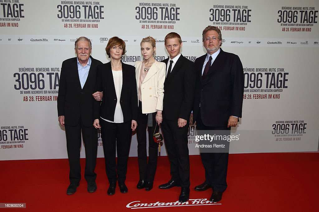 <a gi-track='captionPersonalityLinkClicked' href=/galleries/search?phrase=Michael+Ballhaus&family=editorial&specificpeople=236061 ng-click='$event.stopPropagation()'>Michael Ballhaus</a>, director Sherry Hormann, actress <a gi-track='captionPersonalityLinkClicked' href=/galleries/search?phrase=Antonia+Campbell-Hughes&family=editorial&specificpeople=5292533 ng-click='$event.stopPropagation()'>Antonia Campbell-Hughes</a>, actor <a gi-track='captionPersonalityLinkClicked' href=/galleries/search?phrase=Thure+Lindhardt&family=editorial&specificpeople=3089947 ng-click='$event.stopPropagation()'>Thure Lindhardt</a> and producer Martin Moszkowicz attend the '3096 Tage' Berlin Premiere at CineStar on February 27, 2013 in Berlin, Germany.
