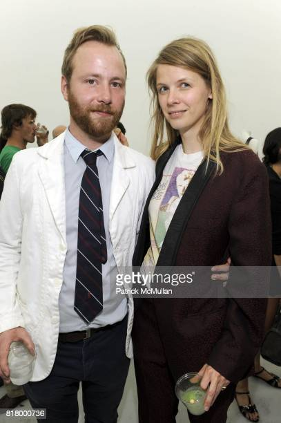 Michael Bank Christoffersen and Henna Heilmann attend Mctega Invites You to Spring/Summer 2011 Presentation at Charles Bank Gallery on September 8...