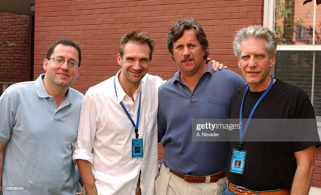 Michael Barker, Co-President of Sony Pictures Classics, Ralph Fiennes, Tom Bernard, Co-President of Sony Pictures Classics, and David Cronenberg