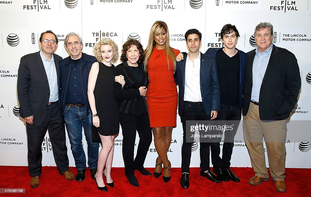 Michael Barker Director Paul Weitz Julia Garner Lily Tomlin Laverne Cox Mo Aboulzelof and Tom Bernard attend the New York Premiere Narrative...