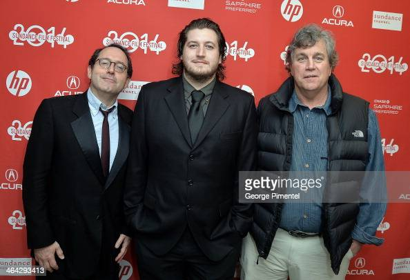 Michael Barker Gareth Evans and Michael Barker attend the premiere of 'The Raid 2' at Eccles Center Theatre during the 2014 Sundance Film Festival on...