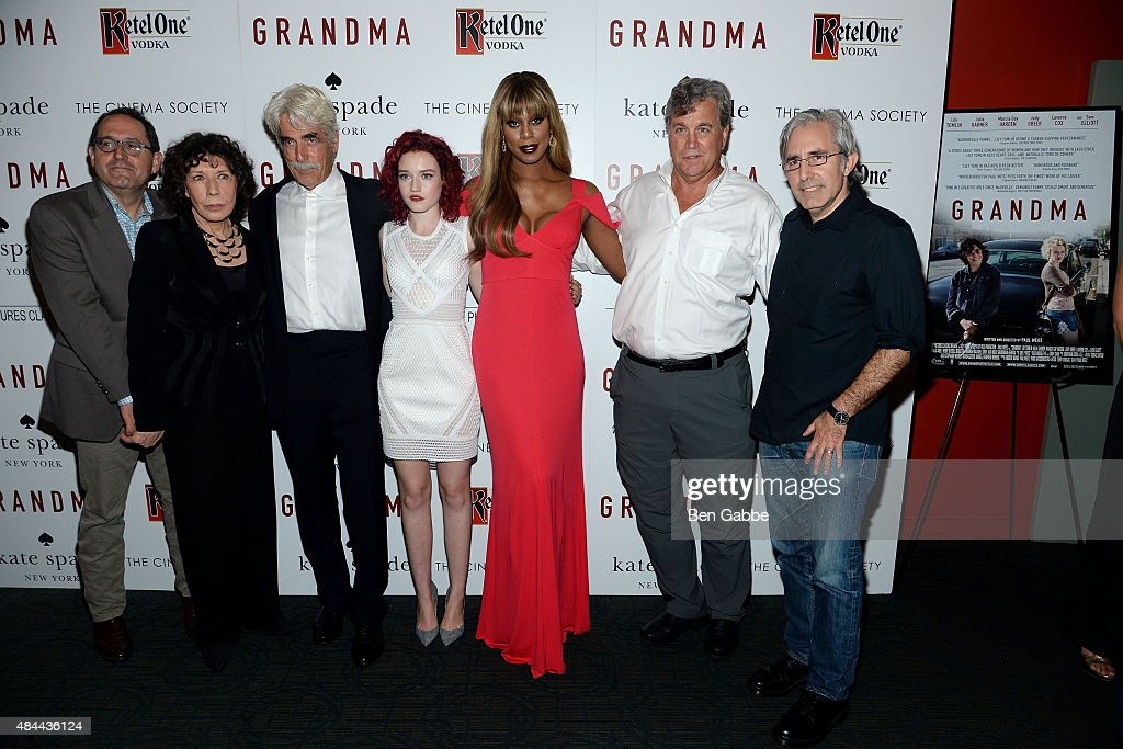 Michael Barker Lily Tomlin Sam Elliott Julia Garner Laverne Cox Tom Bernard and writer/director Paul Weitz attend The Cinema Society and Kate Spade...