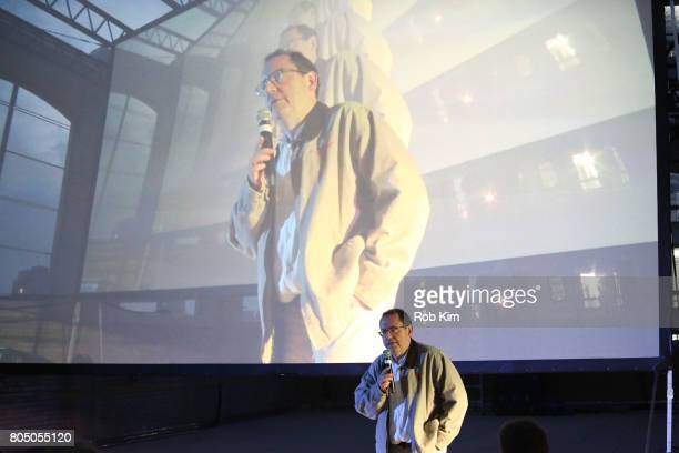 Michael Barker of Sony Pictures Classics makes an intro at a sneak preview of Sony Pictures Classics' BRIGSBY BEAR presented by Rooftop Films at New...
