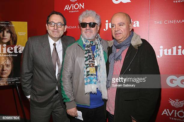 Michael Barker Pedro Almodovar and Agustin Almodovar attend The Cinema Society with Avion and GQ Host a Screening of Sony Pictures Classics'...