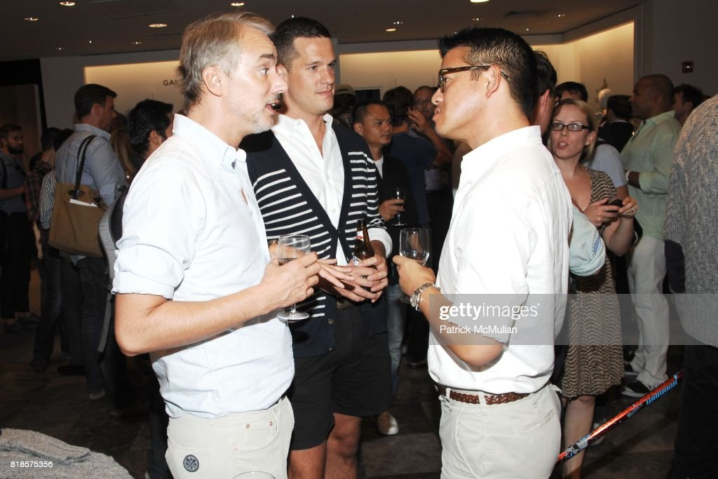 Michael Bastian And Jon Call Peter Som Attend SAKS GQ Celebrate The Launch  Of GANT By