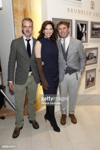 Michael Bastian Melba Ruffo Di Calabria and Brunello Cucinelli attend BRUNELLO CUCINELLI And SAKS FIFTH AVENUE Event In Support of HENRY STREET...