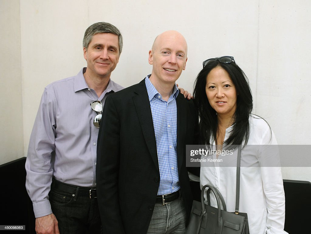Michael Bauer, Mark Solomon and Julie Miyoshi attend a private preview at Museo Jumex on November 16, 2013 in Mexico City, Mexico.