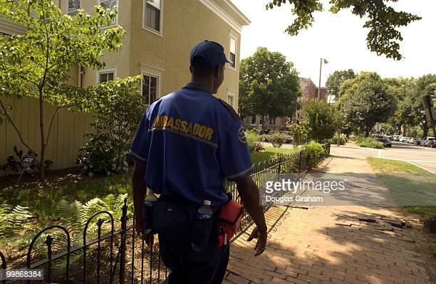 Michael Baxter a homeless Outreach / Safety Ambassador with the Capitol Hill Business Improvement District starts his patrol of the Capitol Hill...