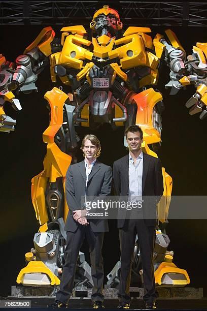 Michael Bay and Josh Duhamel at the 'Transformers' Japan Premiere on July 24 2007 at Tokyo Big Sight in Tokyo Japan