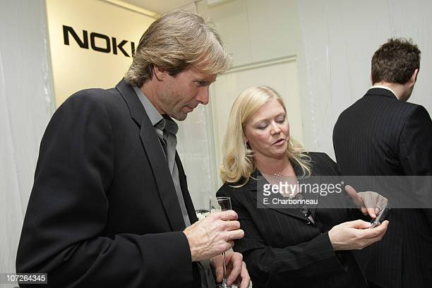 Michael Bay and Nokia's Camilla Pagliaroli at the Nokia Influencer Dinner on November 14 2007 at Mr Chow in Beverly Hills CA