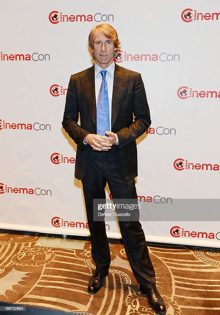 <a gi-track='captionPersonalityLinkClicked' href=/galleries/search?phrase=Michael+Bay&family=editorial&specificpeople=240532 ng-click='$event.stopPropagation()'>Michael Bay</a> arrives at CinemaCon 2013 Paramount opening night party and presentation at Caesars Palace on April 15, 2013 in Las Vegas, Nevada.