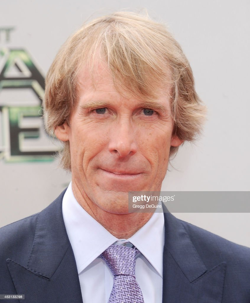 <a gi-track='captionPersonalityLinkClicked' href=/galleries/search?phrase=Michael+Bay&family=editorial&specificpeople=240532 ng-click='$event.stopPropagation()'>Michael Bay</a> arrives at the Los Angeles Premiere of 'Teenage Mutant Ninja Turtles' at Regency Village Theatre on August 3, 2014 in Westwood, California.