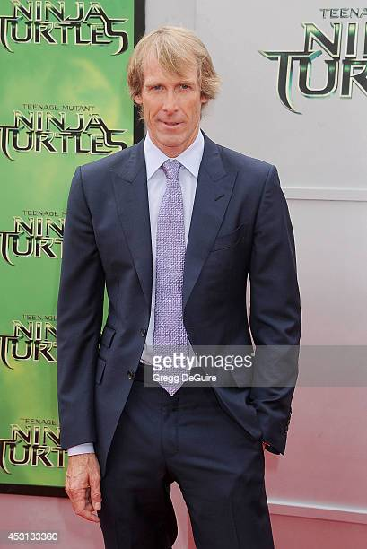 Michael Bay arrives at the Los Angeles Premiere of 'Teenage Mutant Ninja Turtles' at Regency Village Theatre on August 3 2014 in Westwood California