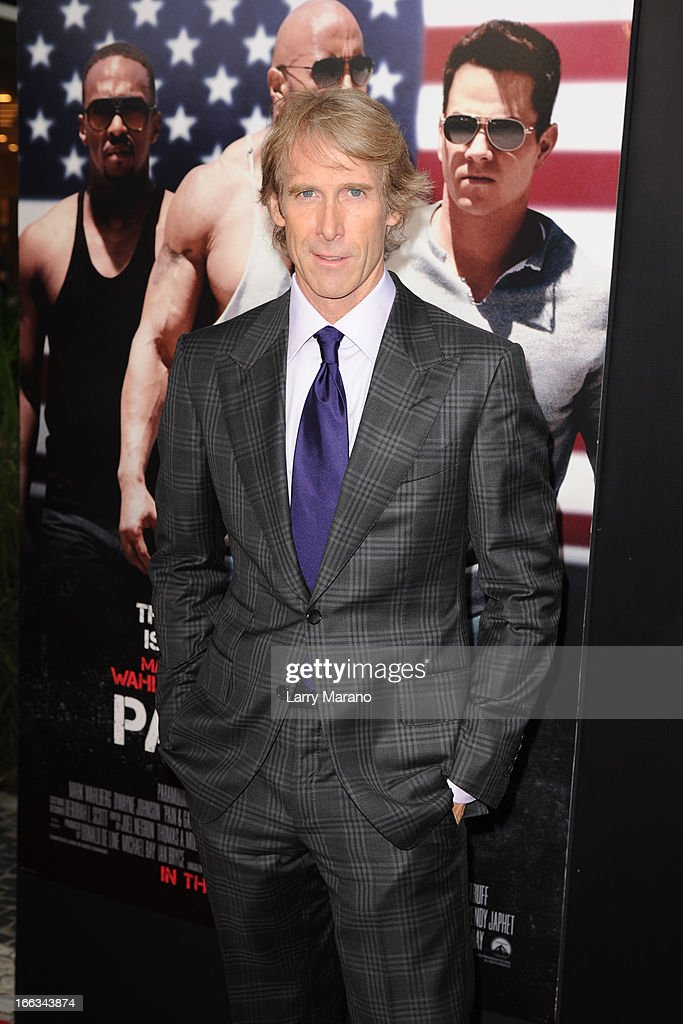 Michael Bay attends the 'Pain & Gain' premiere on April 11, 2013 in Miami Beach, Florida.