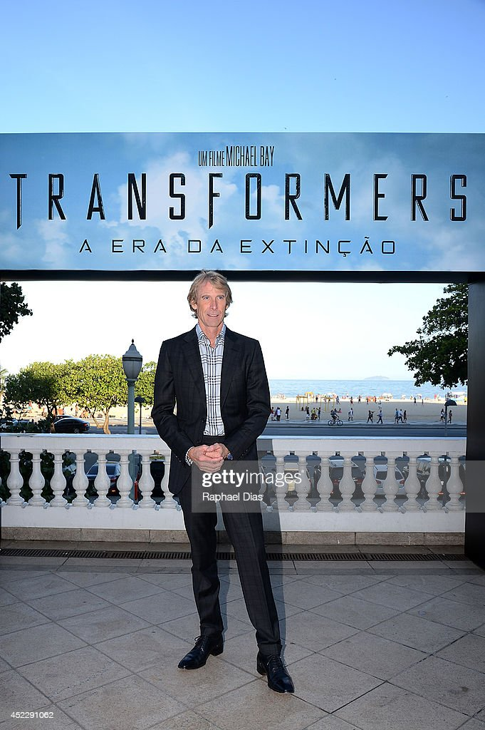 <a gi-track='captionPersonalityLinkClicked' href=/galleries/search?phrase=Michael+Bay&family=editorial&specificpeople=240532 ng-click='$event.stopPropagation()'>Michael Bay</a> attends the photocall for Paramount Pictures' 'Transformers: Age of Extinction' at Copacabana Palace Hotel on July 17, 2014 in Rio de Janeiro, Brazil.