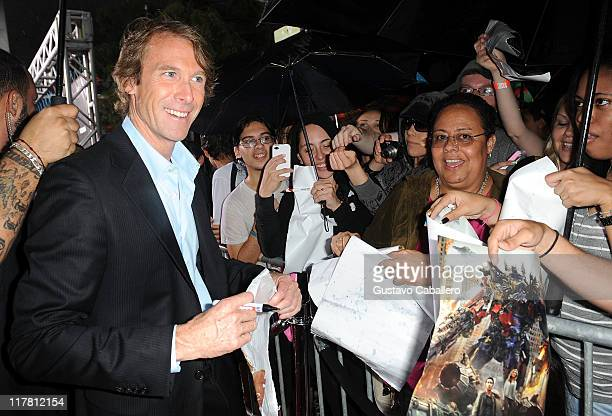 Michael Bay attends the special red carpet VIP screening of 'Transformers Dark of the Moon' at Regal South Beach on June 30 2011 in Miami Florida