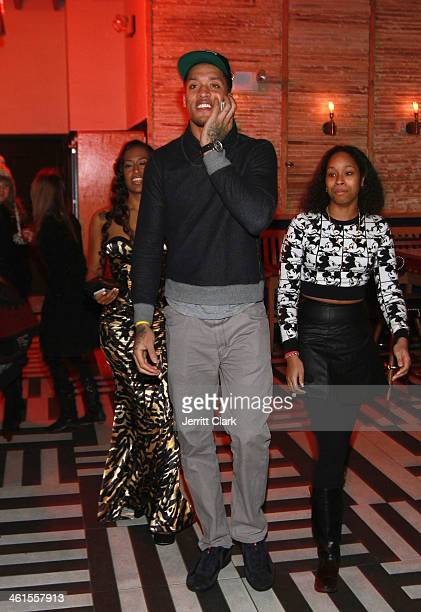 Michael Beasley arrives at his 25th birthday celebration at The General on January 7 2014 in New York City