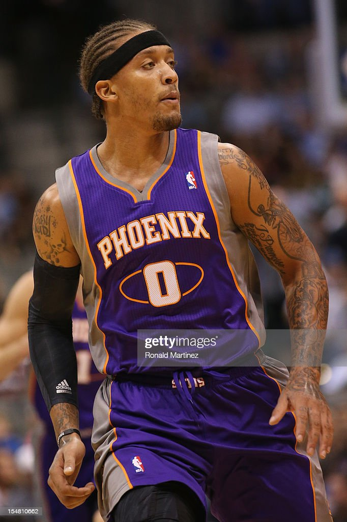 <a gi-track='captionPersonalityLinkClicked' href=/galleries/search?phrase=Michael+Beasley&family=editorial&specificpeople=4135134 ng-click='$event.stopPropagation()'>Michael Beasley</a> #0 of the Phoenix Suns during a preseason game at American Airlines Center on October 17, 2012 in Dallas, Texas.