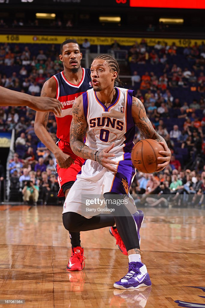 <a gi-track='captionPersonalityLinkClicked' href=/galleries/search?phrase=Michael+Beasley&family=editorial&specificpeople=4135134 ng-click='$event.stopPropagation()'>Michael Beasley</a> #0 of the Phoenix Suns looks to pass the ball against the Washington Wizards on March 20, 2013 at U.S. Airways Center in Phoenix, Arizona.