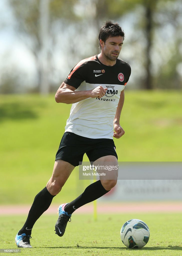 Michael Beauchamp controls the ball during a Western Sydney Wanderers A-League training session at Blacktown International Sportspark on February 19, 2013 in Sydney, Australia.