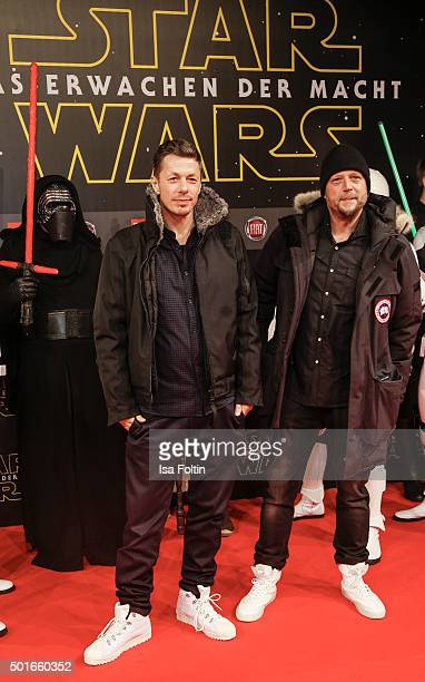 Michael Beck alias Michi and Michael Bernd Schmidt alias Smudo from the band 'Die Fantastischen Vier' attend the German premiere for the film 'Star...