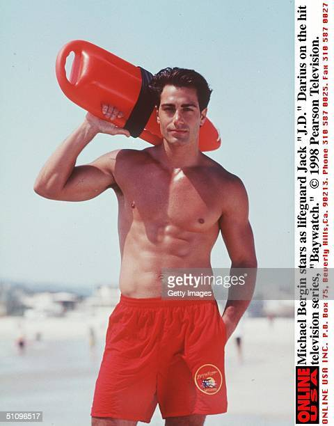 Michael Bergin Stars As Lifeguard Jack 'JD' Darius On The Hit Television Series 'Baywatch' 19981999 Season