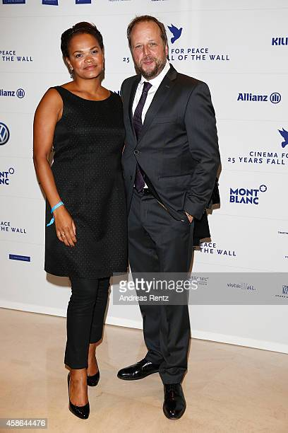 Michael Bernd Schmidt aka Smudo and his wife Esther Schmidt attend the Cinema for Peace HEROES Gala at Hotel Adlon on November 8 2014 in Berlin...