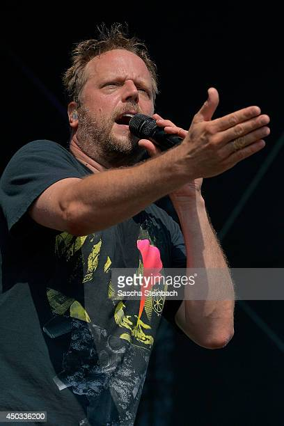 Michael Bernd Schmidt better known as Smudo writer and rapper of the German hip hop group 'Die Fantastischen Vier' performs during a ceremony marking...