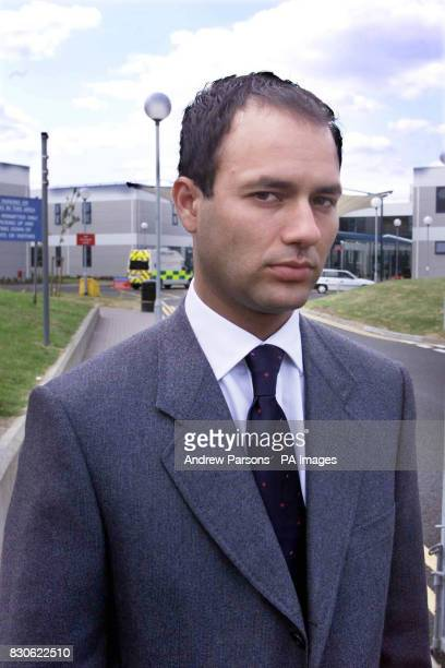 Michael Biggs before entering the Queen Elizabeth Hospital in Woolwich southeast London where his father Great Train Robber Ronnie Biggs was today...