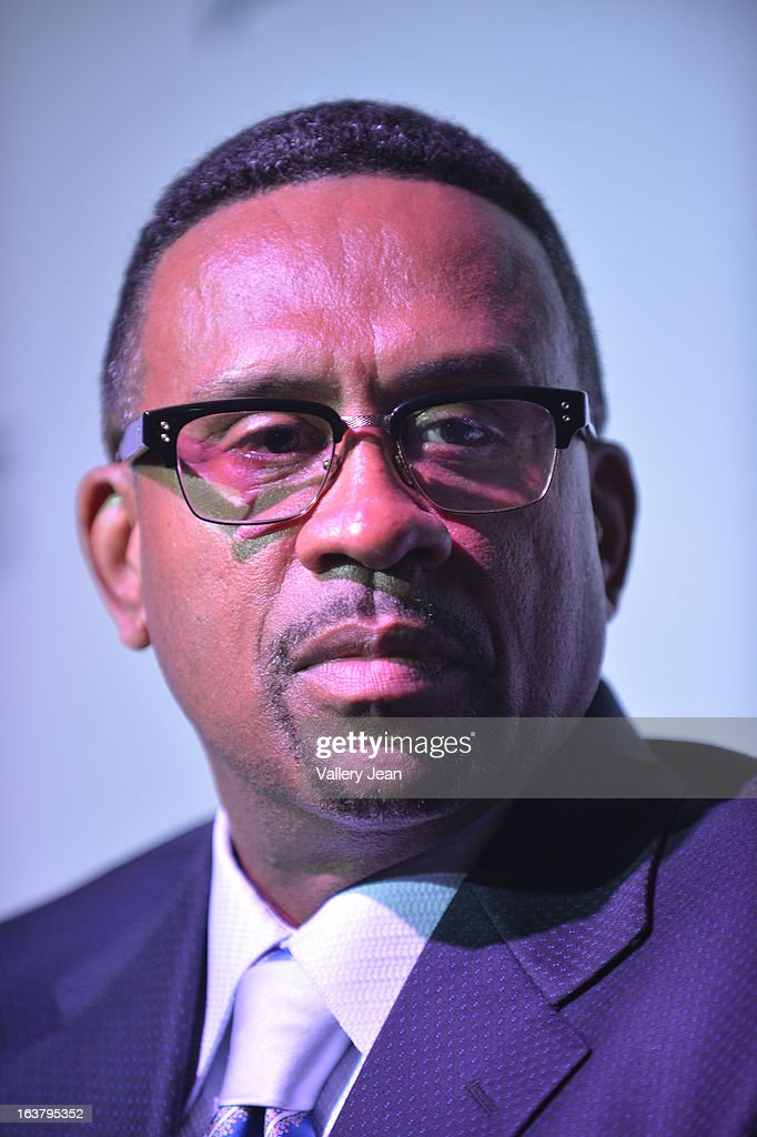 Michael Bisden attends the 8th Annual Jazz in the Gardens Press Conference at Seminole Hard Rock Hotel & Casino ? Hard Rock Cafe Hollywood on March 15, 2013 in Hollywood, Florida.