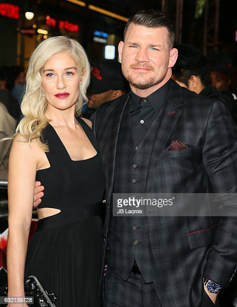 Michael Bisping and Rebecca Bisbing attend the premiere of Paramount Pictures' 'xXx Return Of Xander Cage' on January 19 2017 in Los Angeles...
