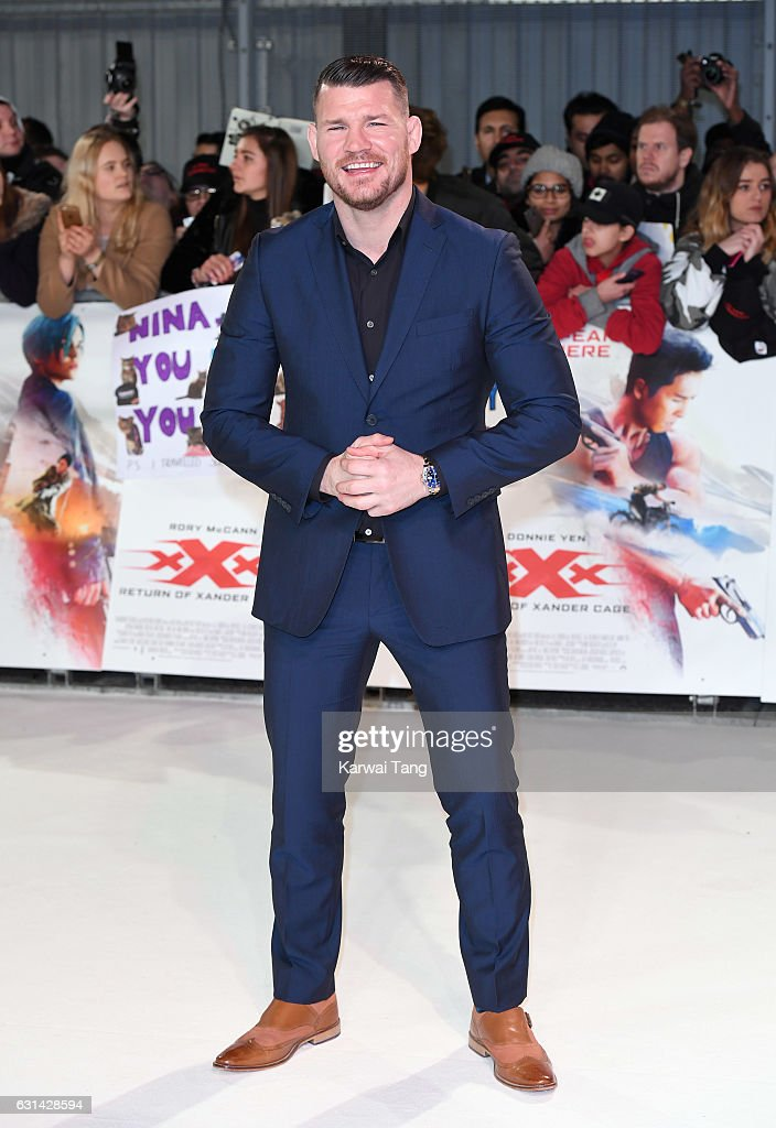 Michael Bisping attends the European premiere of 'xXx: Return of Xander Cage' at Cineworld 02 on January 10, 2017 in London, United Kingdom.