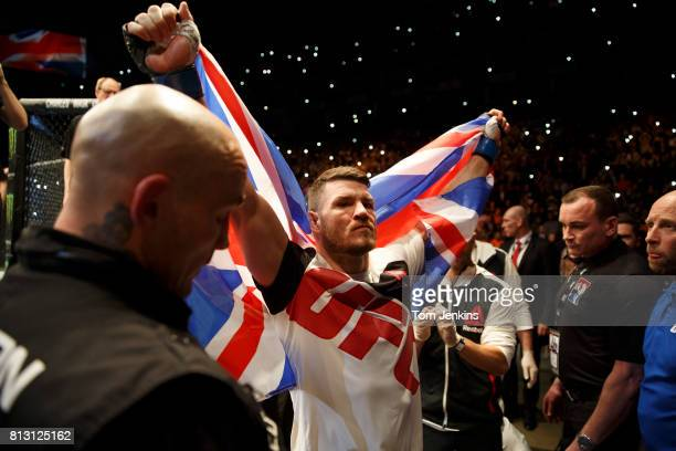 Michael Bisping of Great Britain prepares to enter the octagon before his middleweight fight versus Anderson Silva of Brazil at the UFC Ultimate...