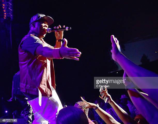 Michael Bivins of Bell Biv Devoe performs during KBLX Hot Summer Night at Concord Pavilion on September 6 2015 in Concord California