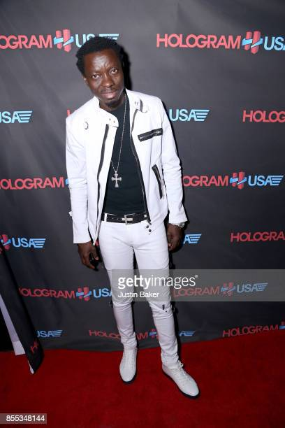 Michael Blackson attends Hologram USA's Gala Preview at Hologram USA Theater on September 28 2017 in Los Angeles California