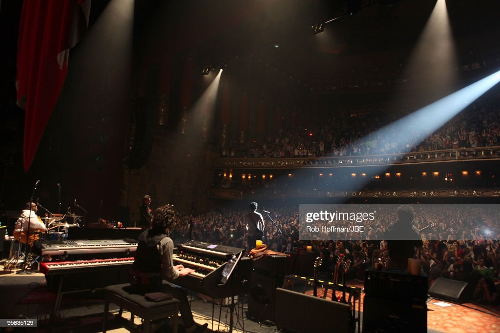 Michael Bland John Fields Tommy Barbarella Nick Jonas and Sonny Thompson perform during the Nick Jonas The Administration tour on January 16 2010 in...