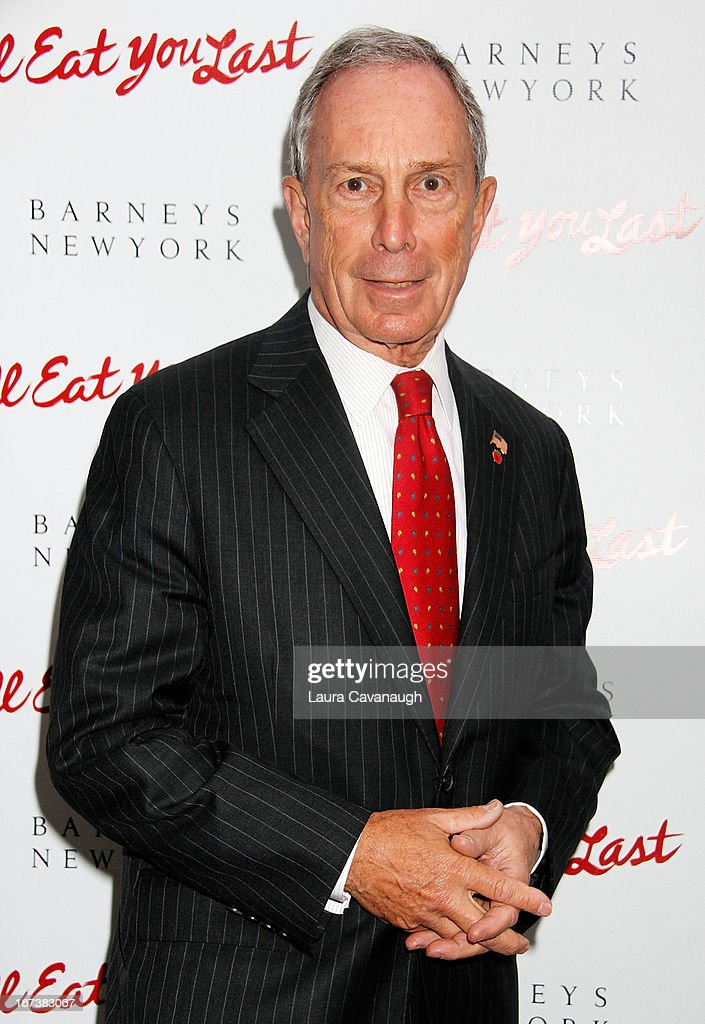 <a gi-track='captionPersonalityLinkClicked' href=/galleries/search?phrase=Michael+Bloomberg&family=editorial&specificpeople=171685 ng-click='$event.stopPropagation()'>Michael Bloomberg</a> attends the 'I'll Eat You Last: A Chat With Sue Mengers' Broadway opening night on April 24, 2013 in New York City.