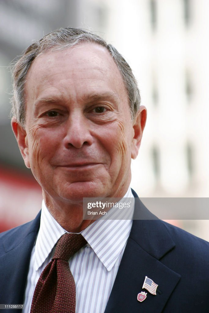 Michael Bloomberg during Barbara Walters and Michael Bloomberg Unveil Lou Walters Way in New York City, New York, United States.