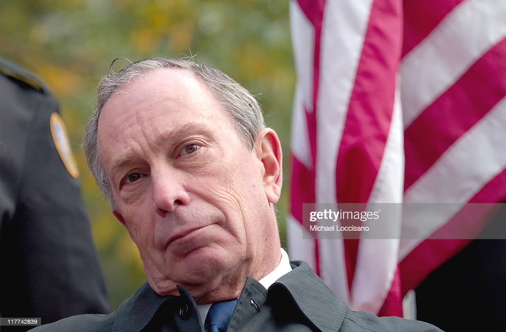 Michael Bloomberg, Mayor of New York during Country Takes New York City - Veterans Day Ceremony - Montgomery Gentry Performance at Madison Square Park in New York City, New York, United States.