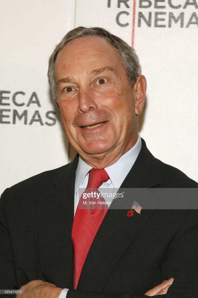 <a gi-track='captionPersonalityLinkClicked' href=/galleries/search?phrase=Michael+Bloomberg&family=editorial&specificpeople=171685 ng-click='$event.stopPropagation()'>Michael Bloomberg</a>, Mayor of New York during Tribeca Cinema Series Screening of Columbia Pictures and Mandate Pictures 'Stranger Than Fiction'- Inside Arrivals at Tribeca Cinema Gallery in New York City, New York, United States.