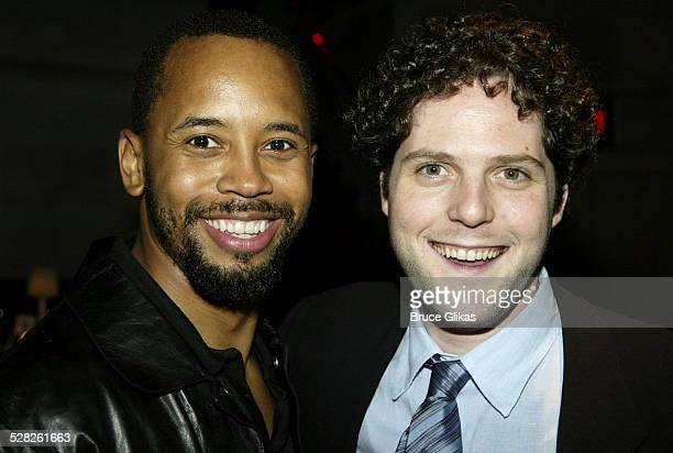 Michael Boatman and Alexander Chaplin during The Opening of Master Haroldand the boys and after party at Laura Belle in New York City New York United...