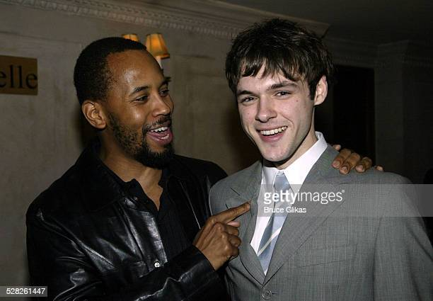 Michael Boatman and Christopher Denham during The Opening of Master Haroldand the boys and after party at Laura Belle in New York City New York...