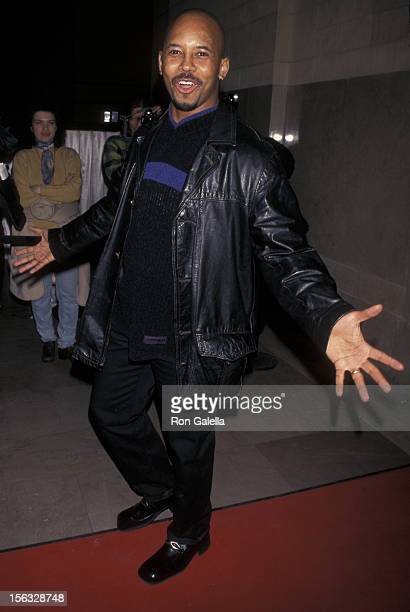 Michael Boatman attends the grand opening of Michael Jordan Steakhouse on February 7 1998 at Grand Central Station in New York City