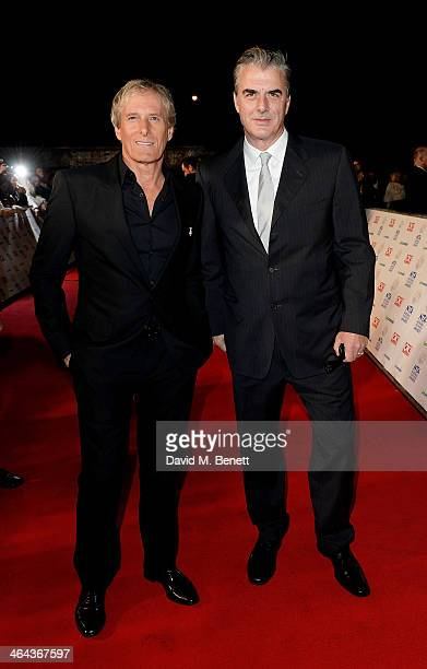 Michael Bolton and Chris Noth attend the National Television Awards at the 02 Arena on January 22 2014 in London England