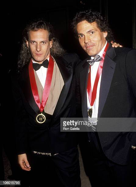 Michael Bolton and Doug James during 1991 BMI Awards at Beverly Wilshire Hotel in Beverly Hills California United States