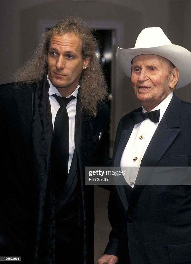 Michael Bolton and Gene Autry during 'Night of 200 Stars' 2nd International Achievement in Arts Awards at New York Hilton Hotel in New York City, NY, United States.
