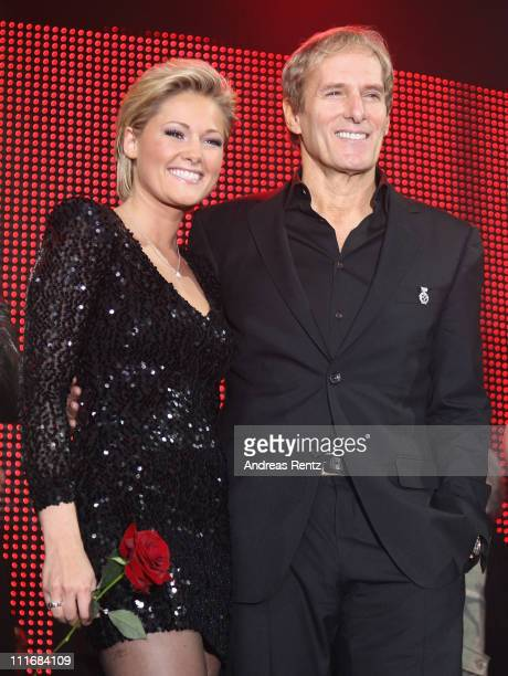 Michael Bolton and Helene Fischer attend the 'Deutscher Live Entertainment Award PRG LEA 2011' at the Festhalle on April 5 2011 in Frankfurt am Main...