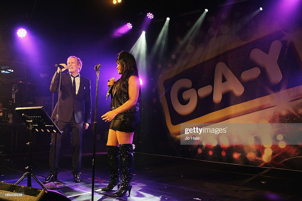 <a gi-track='captionPersonalityLinkClicked' href=/galleries/search?phrase=Michael+Bolton&family=editorial&specificpeople=208230 ng-click='$event.stopPropagation()'>Michael Bolton</a> and Lorna Simpson perform on stage at G-A-Y at Heaven on October 19, 2013 in London, United Kingdom.